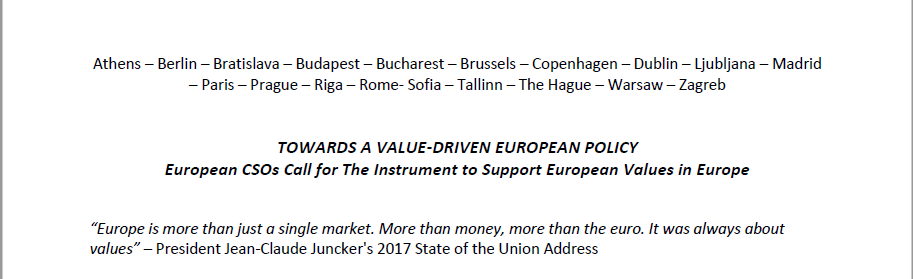 Europuls supports the creation of the European Values Instrument