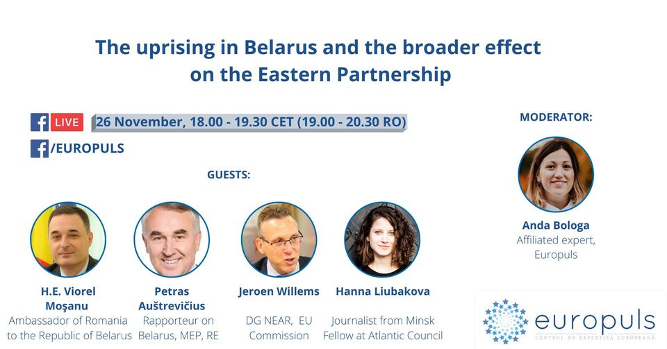 The uprising in Belarus and the broader effect on the Eastern Partnership