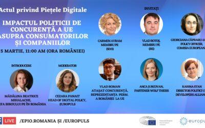 Actul legislativ privind Piețele Digitale – Impactul politicii de concurență a UE asupra consumatorilor și companiilor